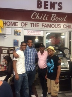 kawan and will at bens chili bowl